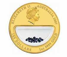 Монеты с сапфирами