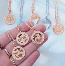 Золотые подвески знаки зодиака