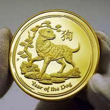 Золотые монеты с изображениями животных