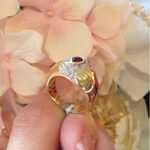 Кольцо с рубином Garavelli Yellow Gold 18k