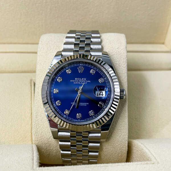 Часы Rolex Datejust 41mm Steel and White Gold (894)