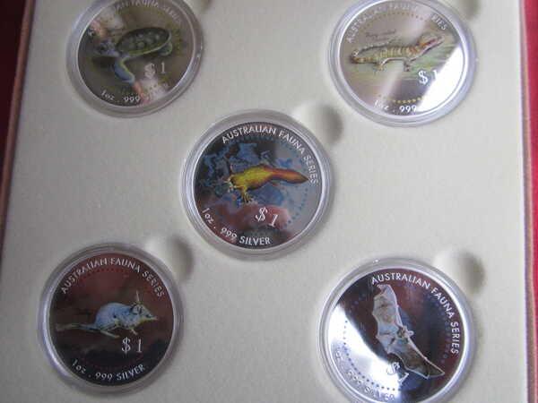 Набор монет Фауна Австралии