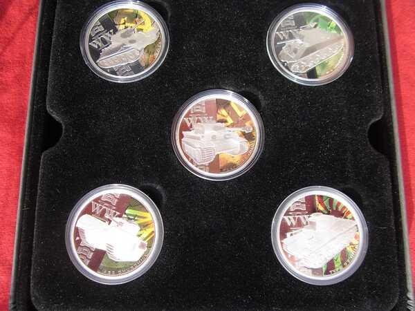 Набор монет Танки Второй Мировой