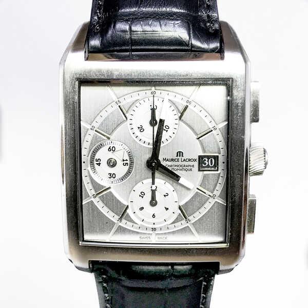 Часы Maurice Lacroix Pontos Rectangulaire Chronographe⠀
