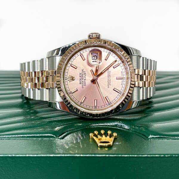 Часы Rolex Datejust 36mm Steel and Everose Gold (824)