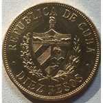 Монета 10 пессо 1916 года   (Куба)