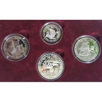 Набор драгоценных 4 монет 1990 года (СССР)