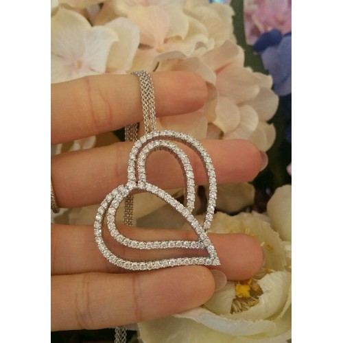 Подвеска Crivelli Heart White Gold 18K