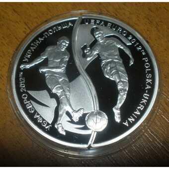 Монета Евро 2012 Украина-Польша (монета-пазл)