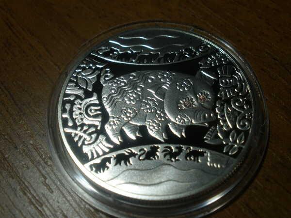 Монета Год Свиньи