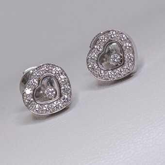 Серьги Chopard Happy Diamonds Icons Ear Pins