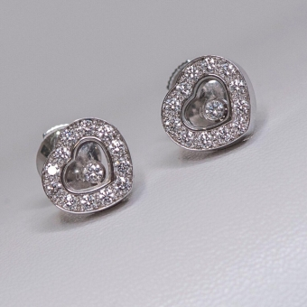 Серьги Chopard Happy Diamonds Icons Ear Pins
