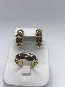 Набор кольцо и серьги Roberto Coin Giraffe